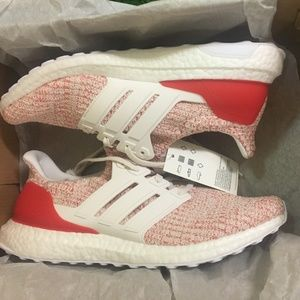 adidas Ultra Boost Women's Running Shoes Red White
